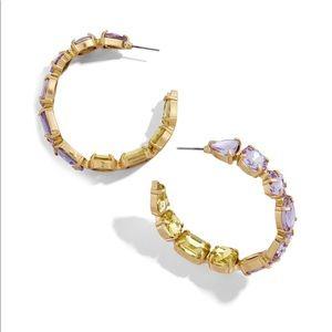 Baublebar Isadora Crystal Embellished Hoops, NWT!